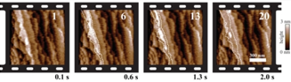 High-speed image sequence of calcite dissolution in diluted hydrochloric acid at a rate of 10 images/s